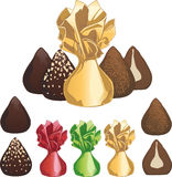 Truffle chocolate candies Stock Photography