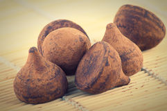 Truffle chocolate candy Royalty Free Stock Photos