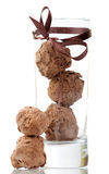 Truffle in glass Royalty Free Stock Images
