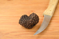 Truffle and knife Stock Photos