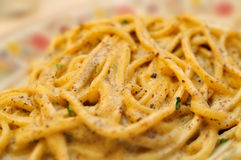 Truffle Macaroni. Macaroni with truffle sauce in a close shot Royalty Free Stock Images