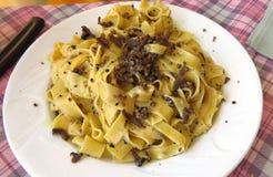 Truffle pasta in Italy Stock Photos