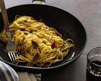 Truffle Pasta. Spaghetti with Truffles Royalty Free Stock Image