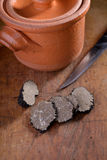Truffle and pot Royalty Free Stock Photo