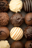 Truffle pralines Stock Images