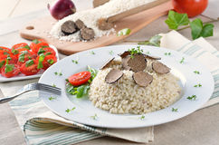 Truffle risotto Stock Photo
