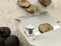 Truffle And Slicer Royalty Free Stock Photos