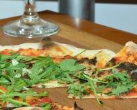 Truffled pizza sicilian zdjęcie royalty free