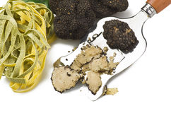 Truffles. Freshly harvested truffles  and sliced close up Stock Image