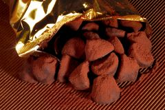 Truffles. Out of the bag Royalty Free Stock Photography