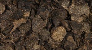 Truffles background. Natural seasoning texture.  stock image