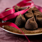 Truffles with cocoa Stock Image