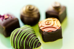 Truffles. Gourmet assorted truffles by local chocolatier stock photography
