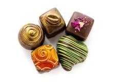 Truffles. Gourmet assorted truffles by local chocolatier royalty free stock photos