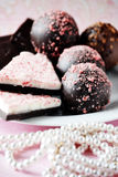 Truffles and pearls Stock Photo