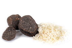 Truffles and rice Stock Photography