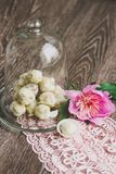 Truffles with white chocolate Royalty Free Stock Images