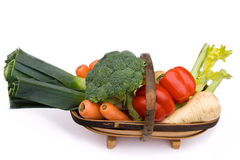 Trug of Christmas Vegetables Royalty Free Stock Images