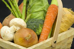 Trug of Fresh Vegetables Stock Photo