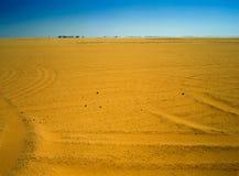 Trugbild auf Wüste in Ägypten stockbild