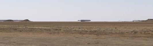 Trugbild in der Wüste Stockbild