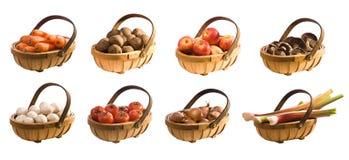 Trugs dos vegetais & das frutas Foto de Stock Royalty Free