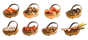 Trugs of Vegetables & Fruits Royalty Free Stock Photo