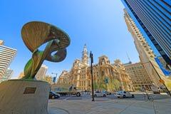 Truine rzeźba blisko Filadelfia urzędu miasta Obraz Stock