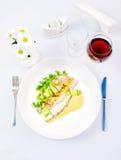 Truite Pouched de rivière dans le vin Photo libre de droits