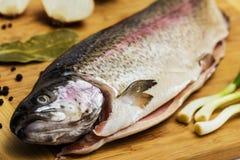 Truite saumonée fraîche Images stock