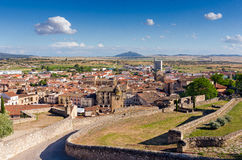 Trujillo, Caceres, Spain. General view of trujillo from the castle Royalty Free Stock Photos