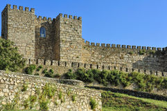 Trujillo Castle (Extremadura, Spain). Trujillo old astle in Trujillo(Extremadura, Spain Stock Photo