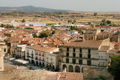 Trujillo: panorame of city. Trujillo (Spain): panorame of city Stock Photos