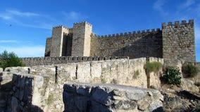 Trujillo ,Spain 4. A photo taken under the medieval castle in the city of Trujillo,Spain. Una foto tomada bajo el castillo medieval de Trujillo en España Royalty Free Stock Photos