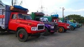 Truk clássico no porto tradicional Imagem de Stock