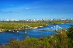 Trukhaniv bridge in Kiev Royalty Free Stock Photo