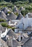 trulli Италии города apulia alberobello Стоковое Фото