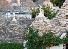 Trulli, типичные старые дома в Alberobello Стоковая Фотография