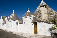 Trulli. The ancient and typical rural houses in Alberobello, region of Puglia, Italy Royalty Free Stock Images