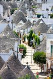 Trulli aerial view, Alberobello, Italy royalty free stock photography