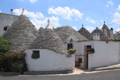 Trulli in alberobello. View of a group trulli building in alberobello (traditional conic houses built in stone Stock Photography