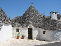Trulli in Alberobello Fotografie Stock