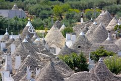 Trulli at Alberobello, Apulia, Italy stock photography