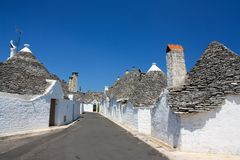 Trulli at Alberobello, Apulia, Italy stock images