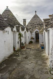 The Trulli of Alberobello. District. Alberobello, Puglia: Trulli, ancient district. World Heritage Site Royalty Free Stock Photography