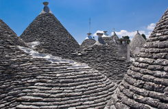 Trulli in Alberobello, Italy. Limestone dwellings with dome (trulli) in Alberobello, Apulia (Italy Stock Photos