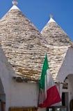 Trulli in Alberobello, Italy. Limestone dwellings with dome (trulli) in Alberobello, Apulia (Italy Royalty Free Stock Photography