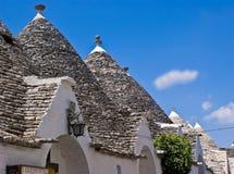 Trulli in Alberobello, Italy. Limestone dwellings with dome (trulli) in Alberobello, Apulia (Italy Royalty Free Stock Photo