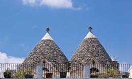 Trulli in Alberobello, Italy. Limestone dwellings with dome (trulli) in Alberobello, Apulia (Italy Stock Photo