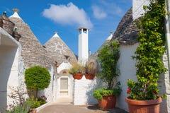 Trulli of Alberobello town, Italy stock image
